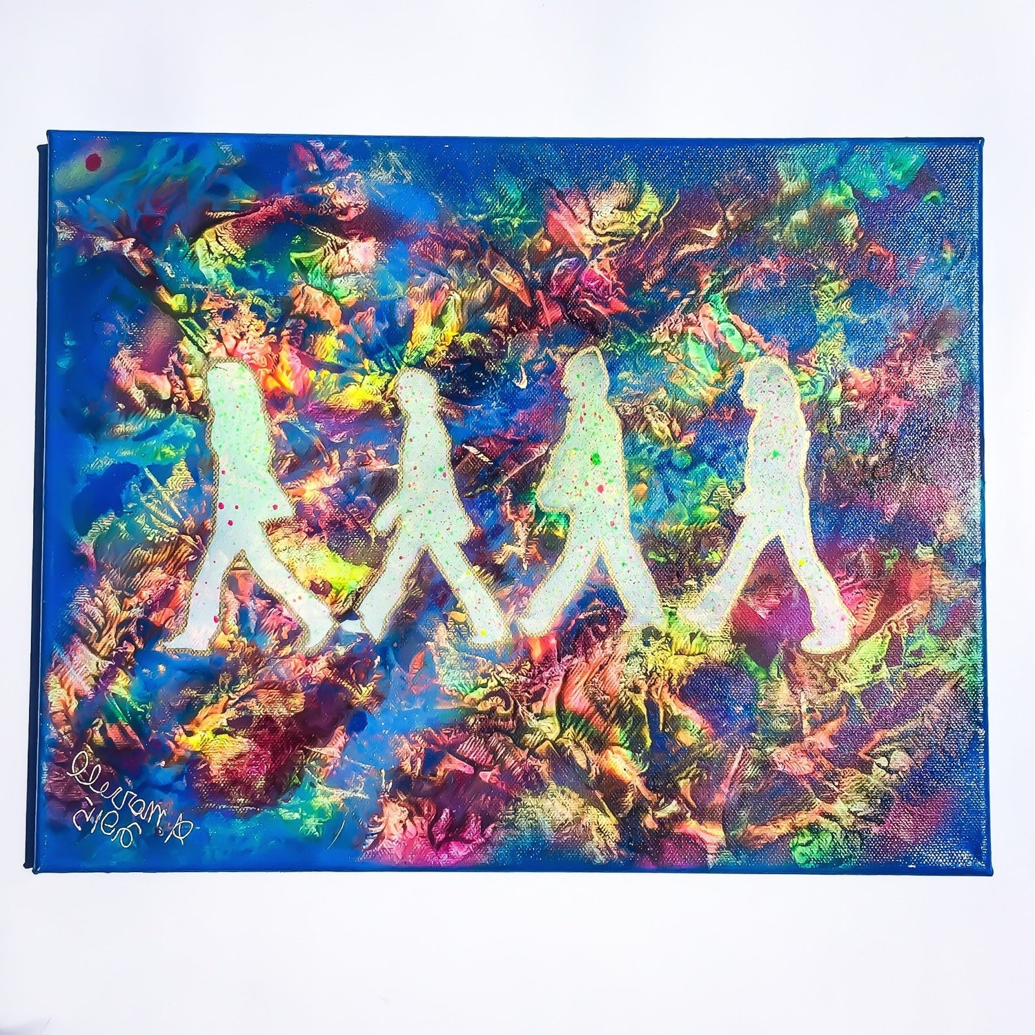Well Known The Beatles Abbey Road Psychadelic Painting Spray Paint Art On For Rainbow Canvas Wall Art (View 14 of 15)