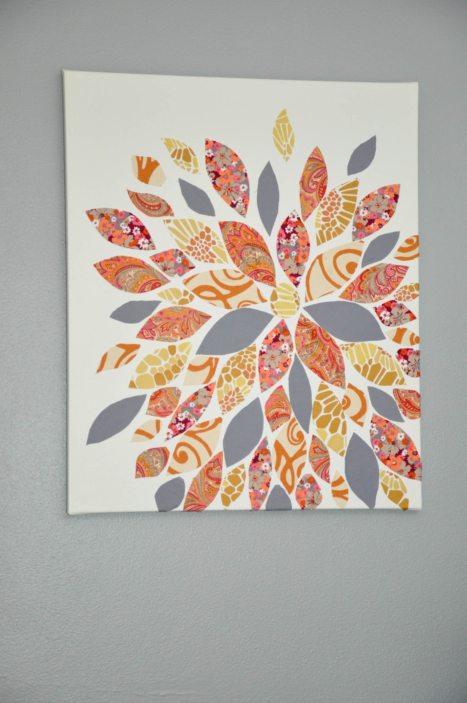 Well Known This Is So Cute And So Easy! Gosh I Can't Wait To Own My Own For Fabric Flower Wall Art (View 7 of 15)
