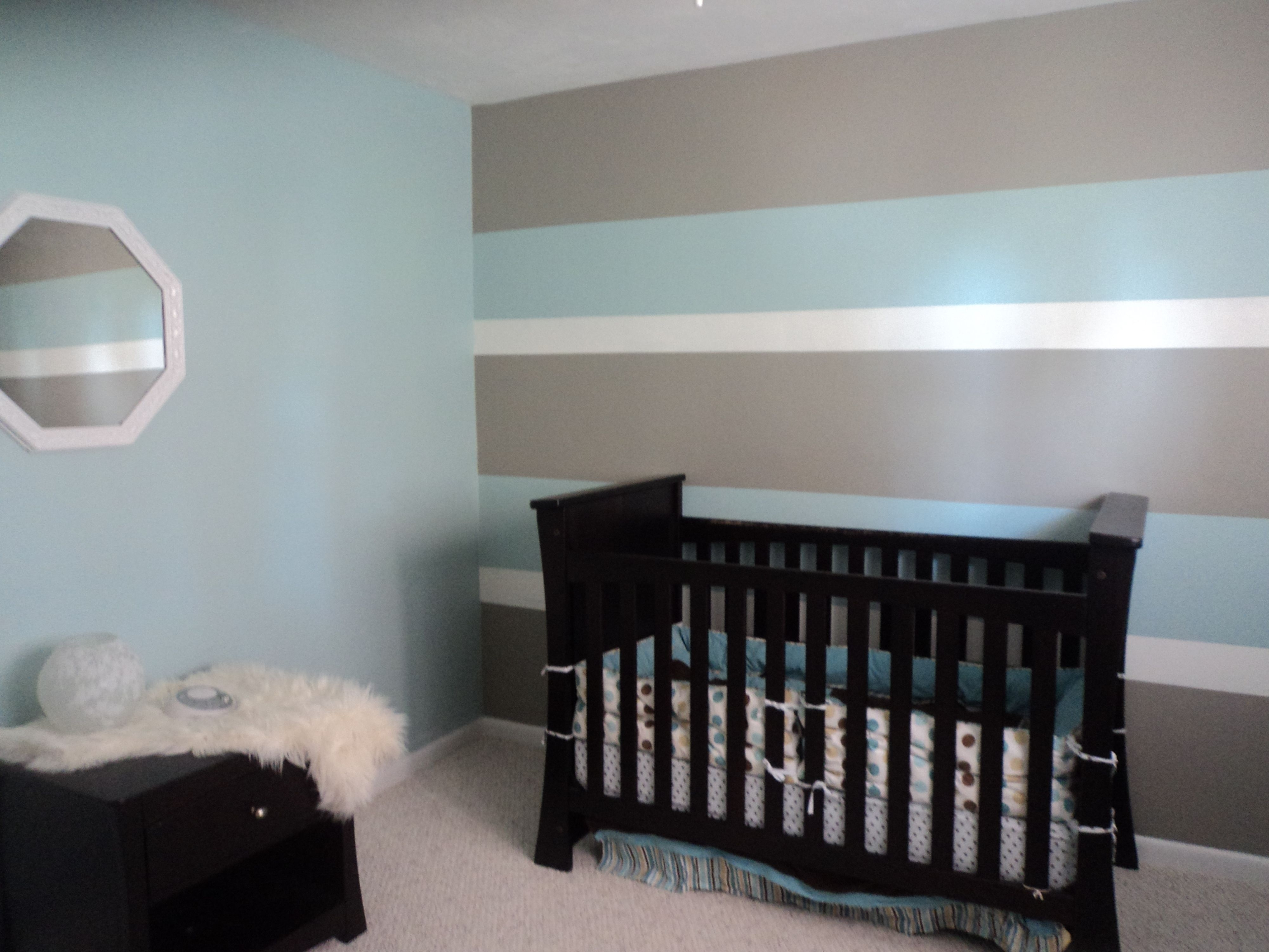 Well Known Vertical Stripes Wall Accents Pertaining To My Son's First Nurseryhubby And I Painted 3 Toned Horizontal (View 15 of 15)