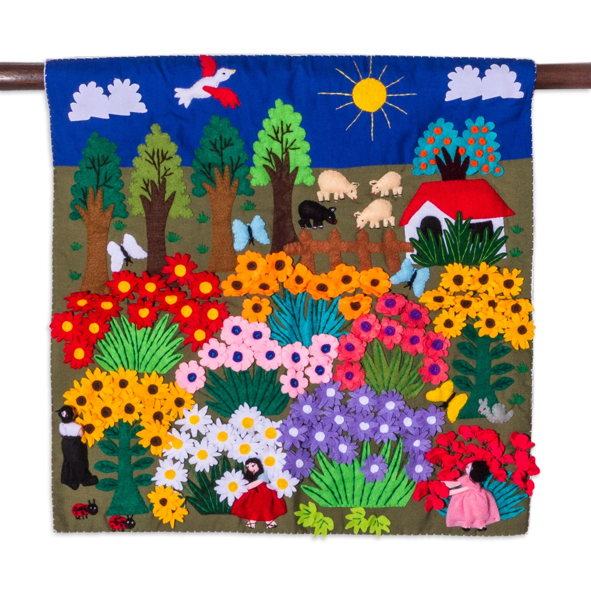 Well Known Wall Hangings Offer A Great Variety Of Decor Options Throughout Fabric Applique Wall Art (View 14 of 15)
