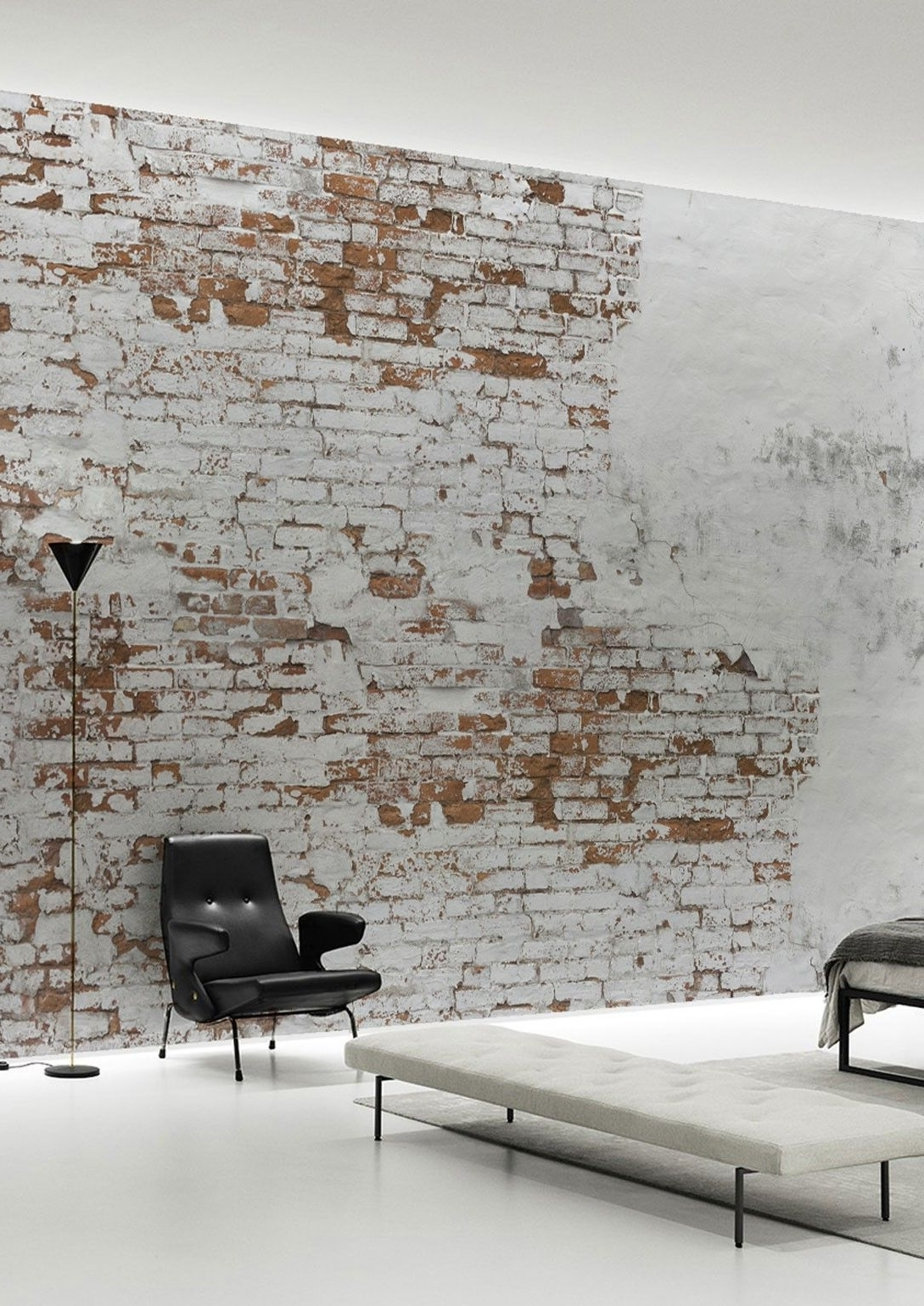 Well Known Wallpaper Wall Accents Inside Create Your Own Industrial Wall In No Time With This Plaster Brick (View 14 of 15)