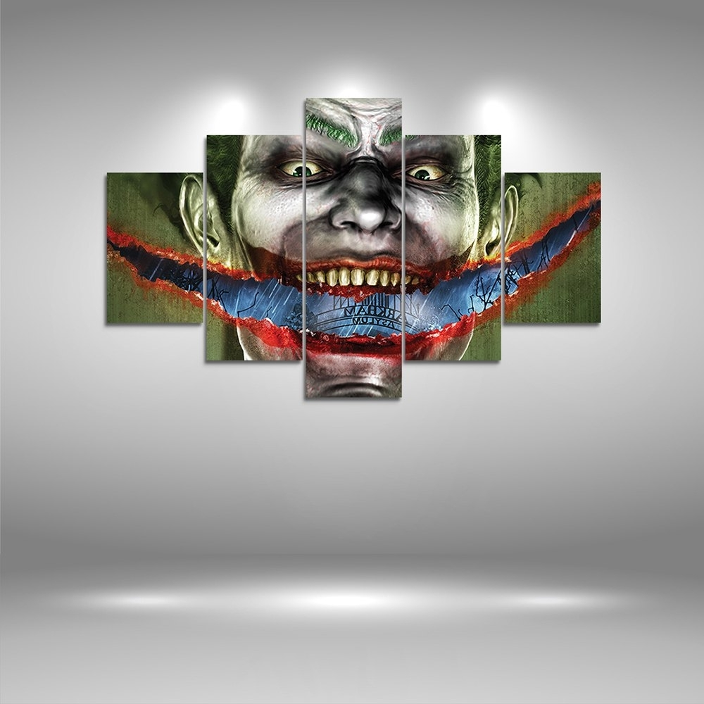 Well Liked 2018 Joker Canvas Print Painting Home Decoration Wall Art Picture Inside Joker Canvas Wall Art (View 15 of 15)