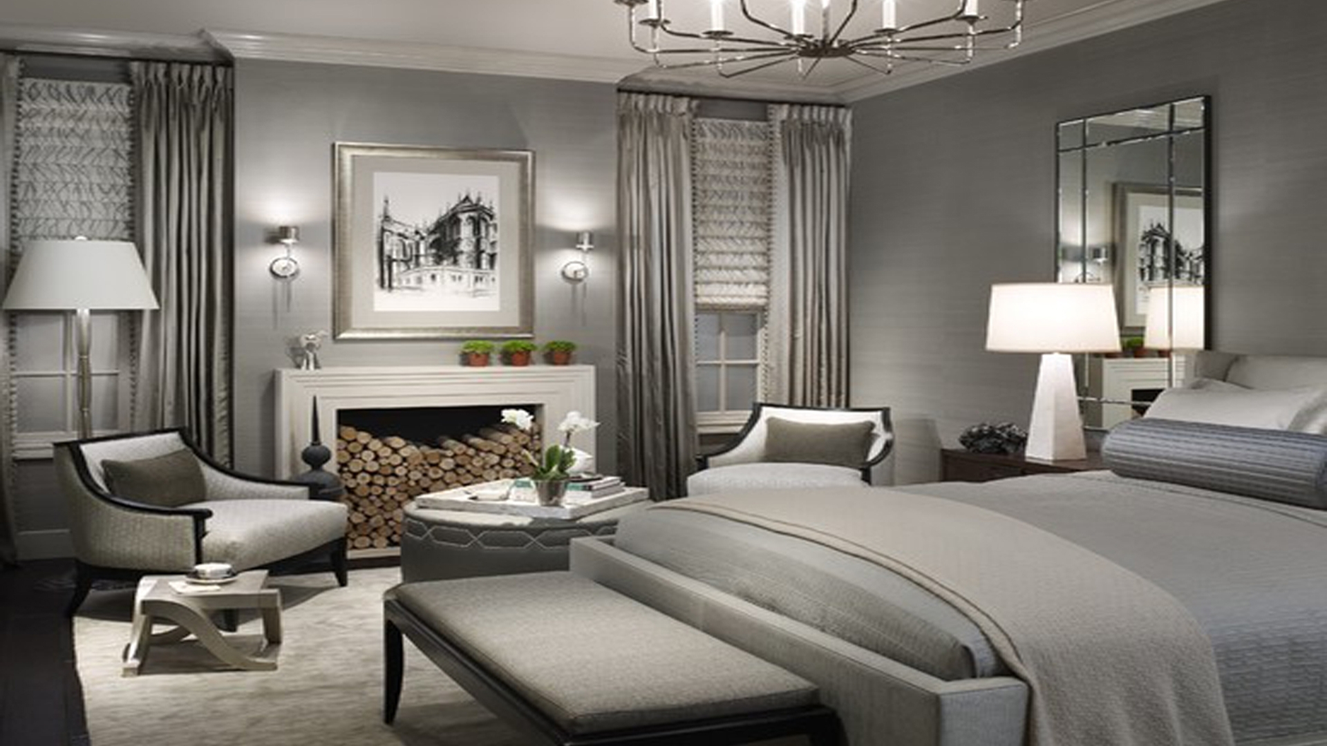 Well Liked Bedroom : Inviting Grey Bedroom Walls Picture Concept Light Home Throughout Wall Accents For Grey Room (View 13 of 15)
