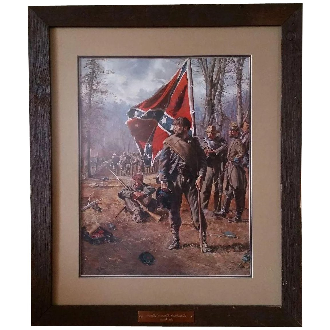 "Well Liked Confederate Framed Art Prints With Regard To Don Troiani Print ""confederate Standard Bearer"" : Ruff Acres (View 14 of 15)"