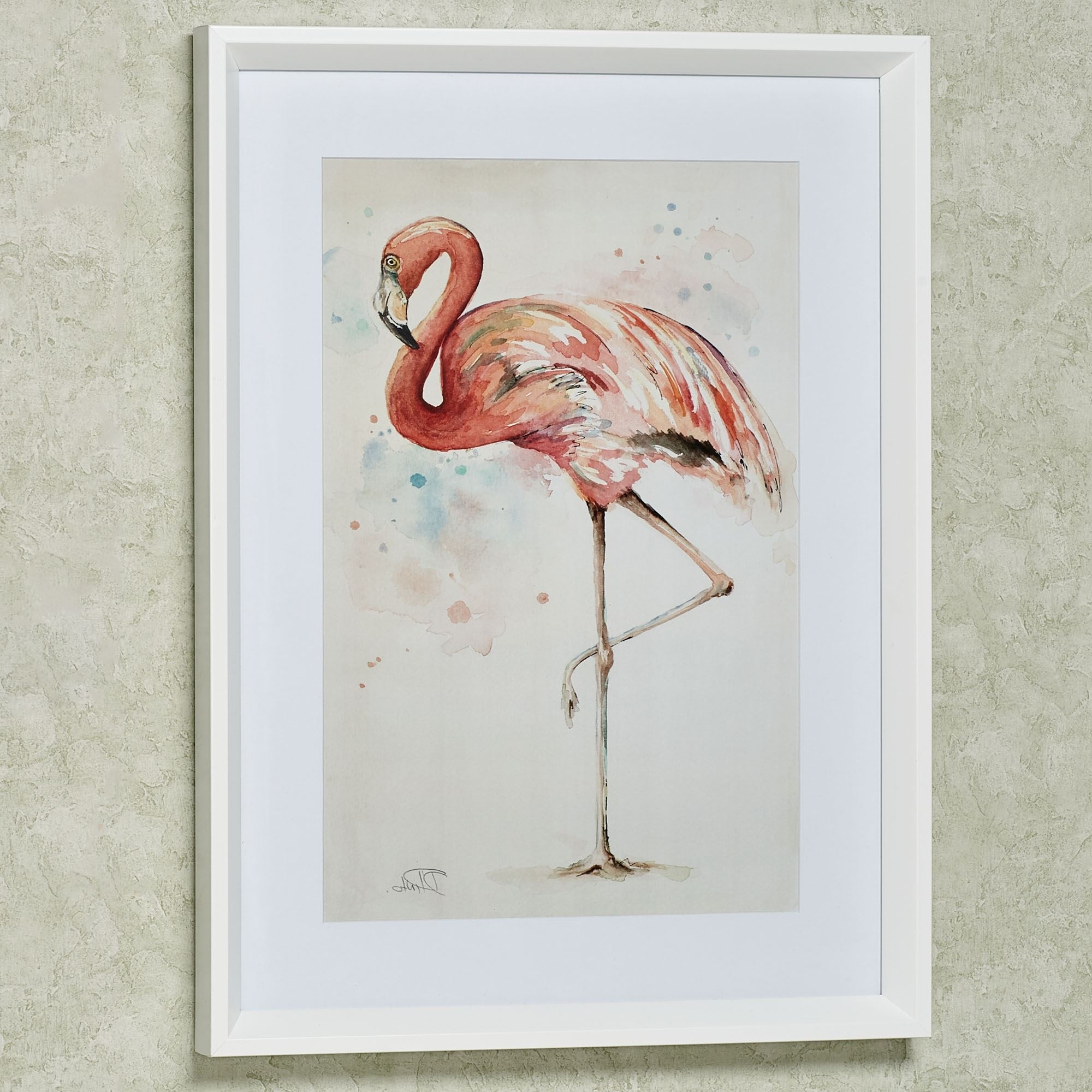 Well Liked Framed Coral Art Prints Within Coral Pink Flamingo Framed Print Wall Art (View 15 of 15)