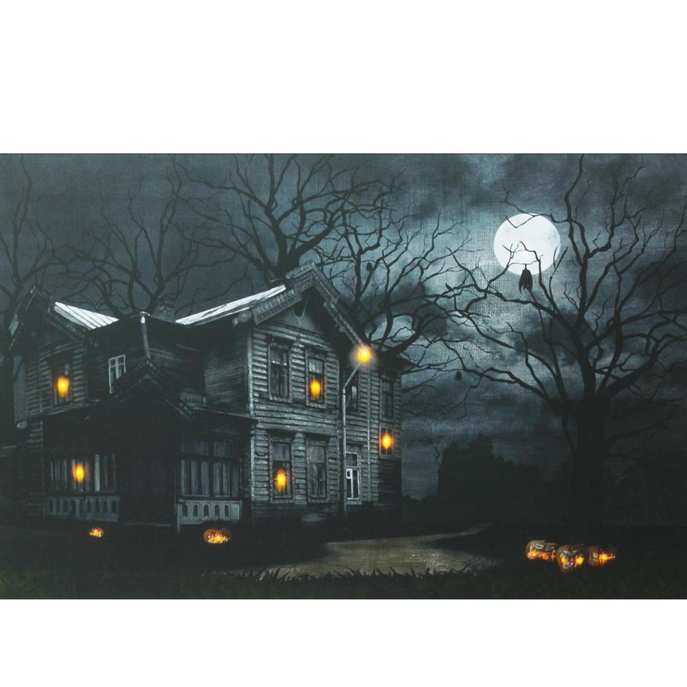 Well Liked Halloween Led Canvas Wall Art Pertaining To Northlight 15.75 In. X 19.5 In (View 13 of 15)