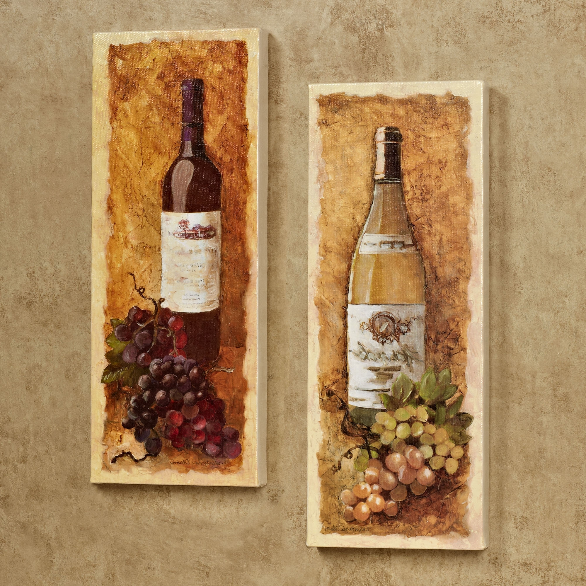 Well Liked Kitchen Canvas Wall Art Pertaining To Wall Art Ideas Design : Marlot Chardonnay Wine Canvas Wall Art (View 15 of 15)