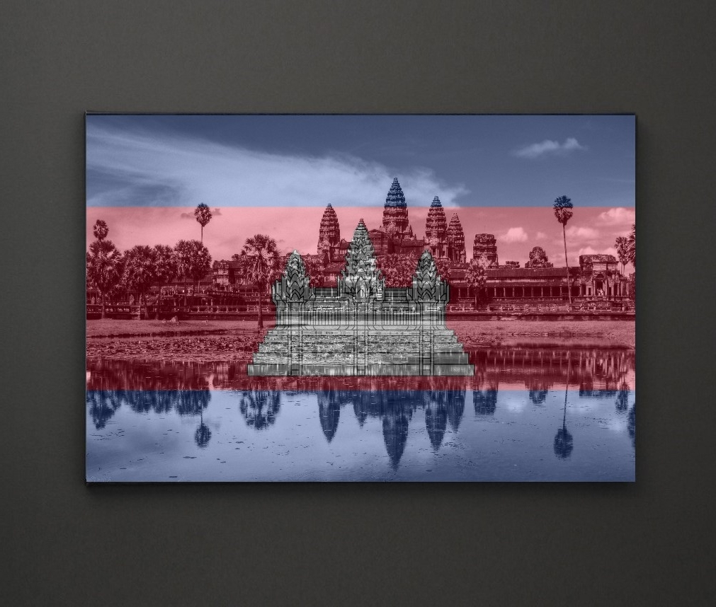 Well Liked Leadgate Canvas Wall Art With Regard To Angkor Wat Cambodia Flag A4 Framed/box Canvas A4 A3 A2 A1 Gift (View 3 of 15)