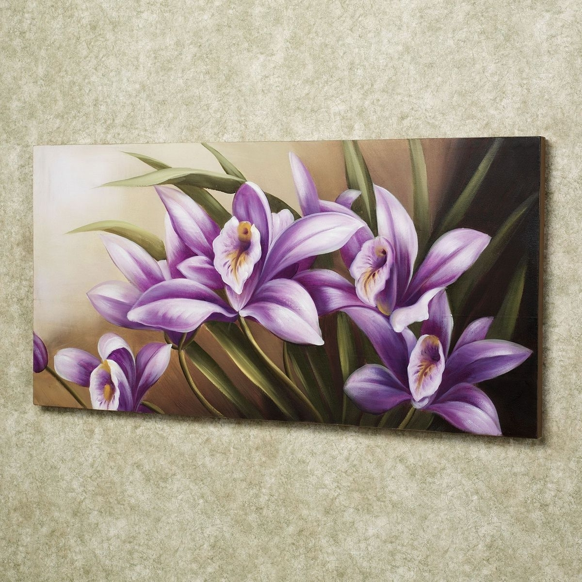 Well Liked Purple Flowers Canvas Wall Art With Regard To Easy Canvas Painting Ideas:scenic Ideas Sensuality Of Iris Purple (View 8 of 15)