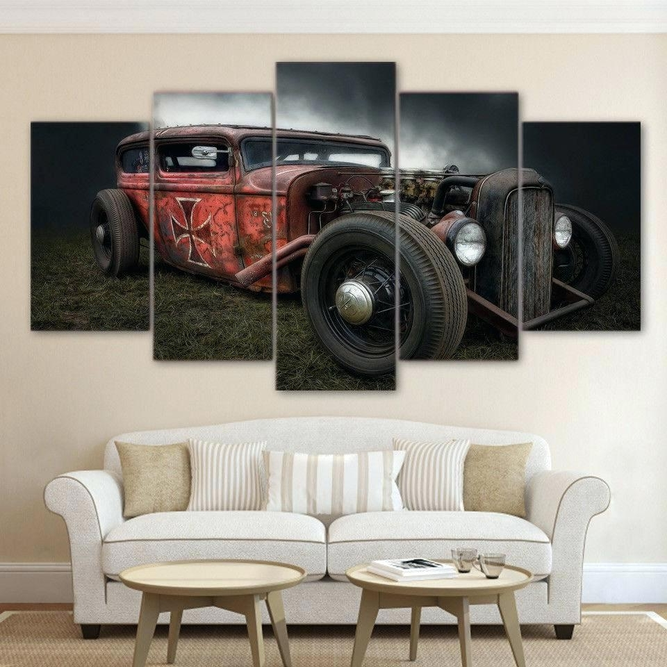 Well Liked Retro Canvas Wall Art With Regard To Wall Arts ~ Vintage Canvas Wall Art Australia 5 Pieces Antique Hot (Gallery 7 of 15)