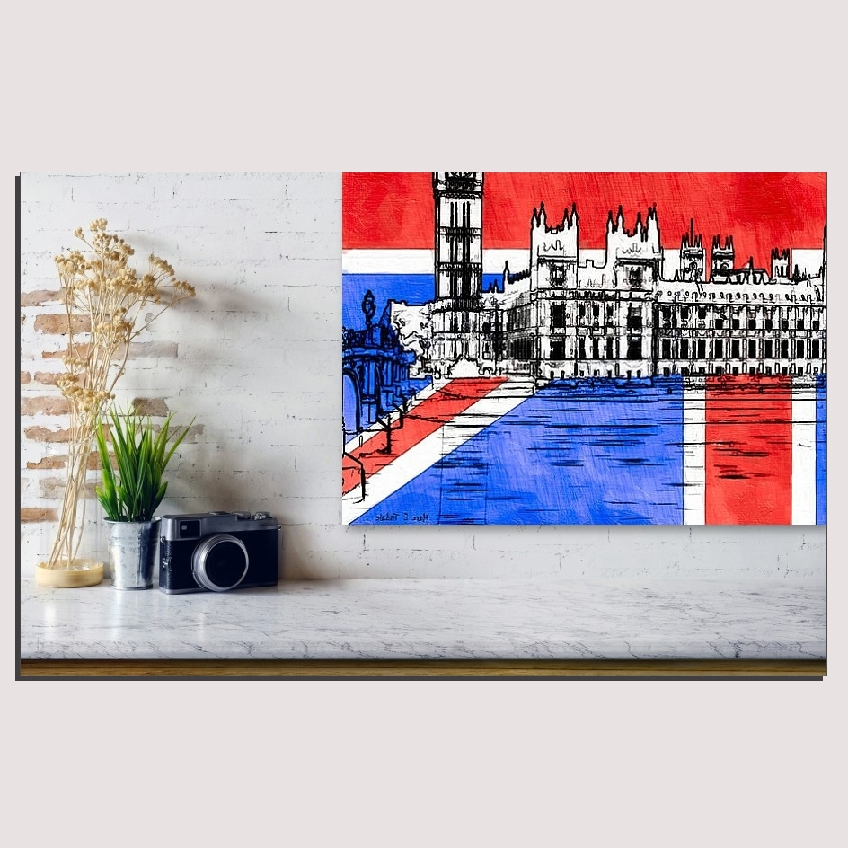 Well Liked Union Jack Wall Art With Signature Gothic Revival Parliament Within Union Jack Canvas Wall Art (View 15 of 15)