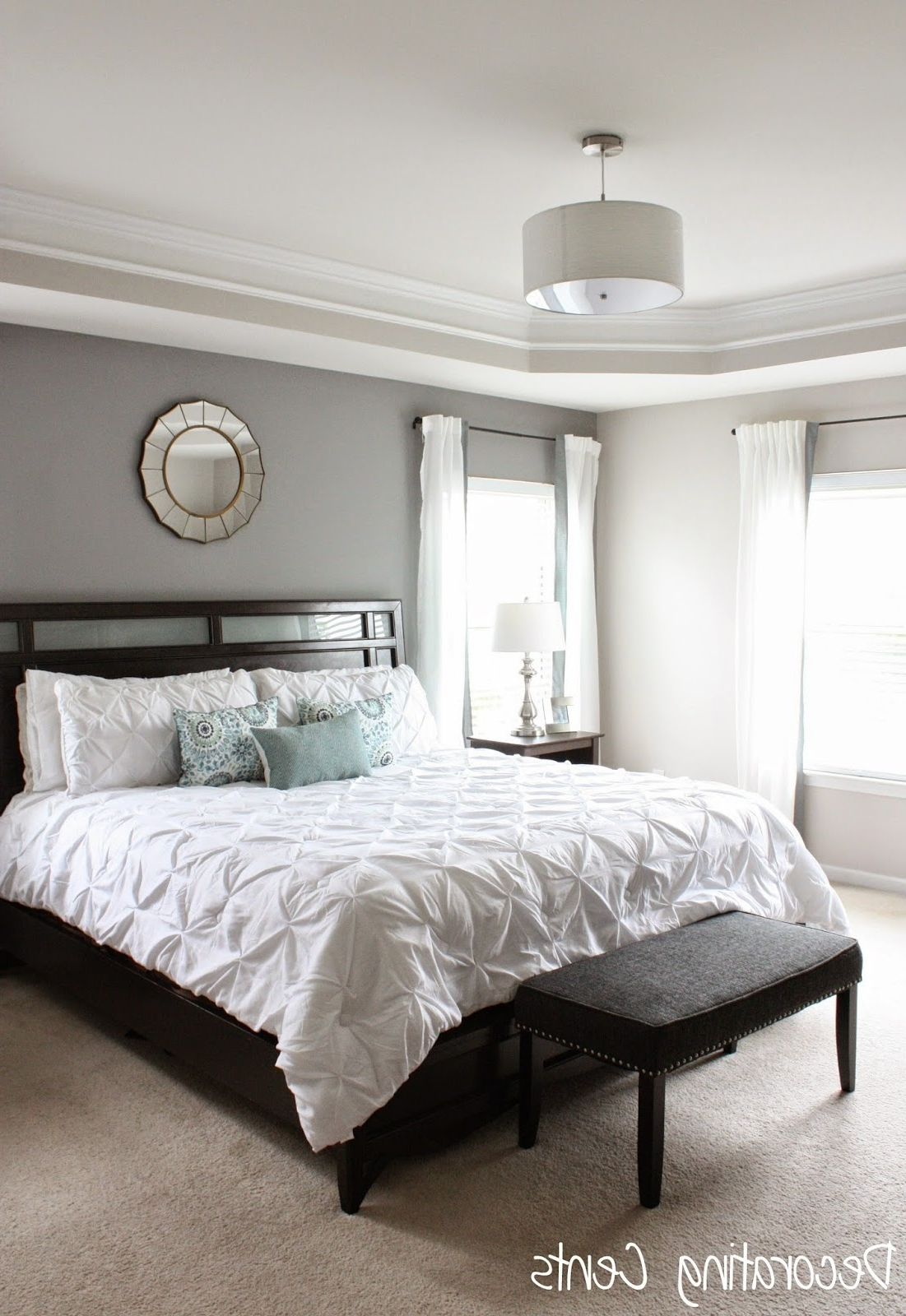 Well Liked Wall Accents Behind Bed Intended For Decorating Cents: Gray Accent Wall (View 15 of 15)