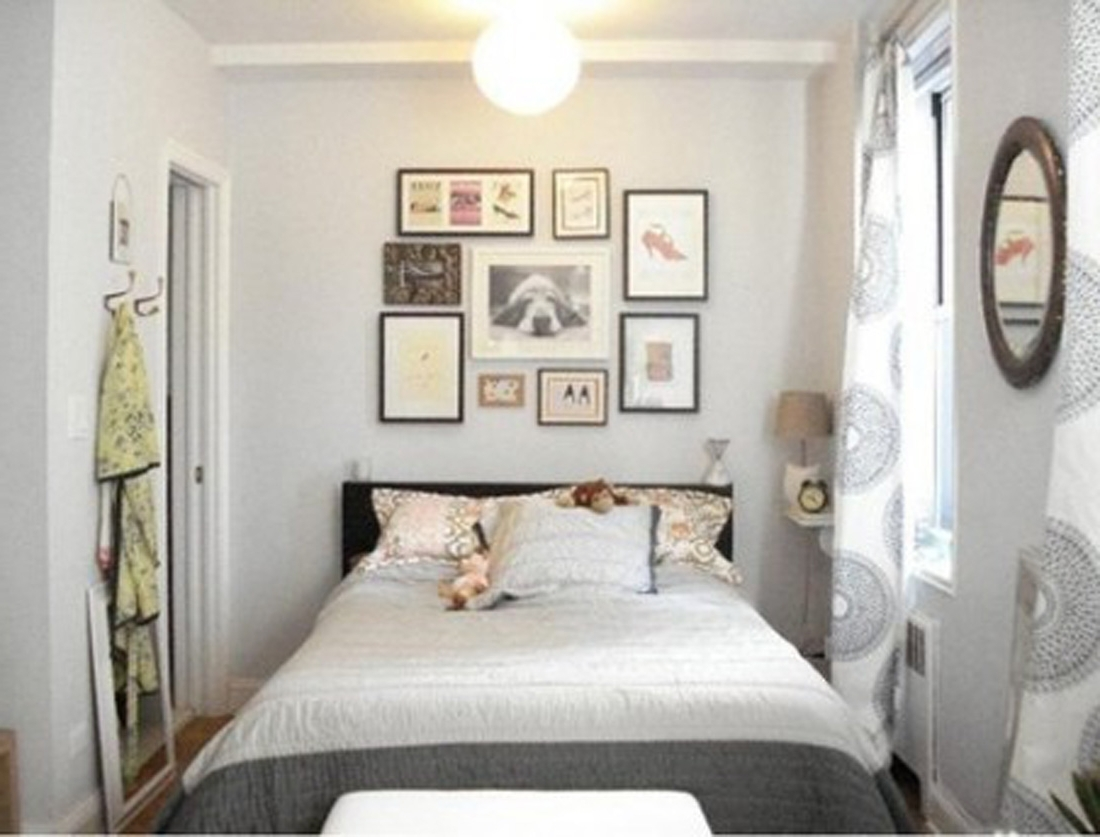 Well Liked Wall Accents For Small Bedroom Throughout Fair Image Of Modern White And Gray Bedroom Decoration Using (View 15 of 15)
