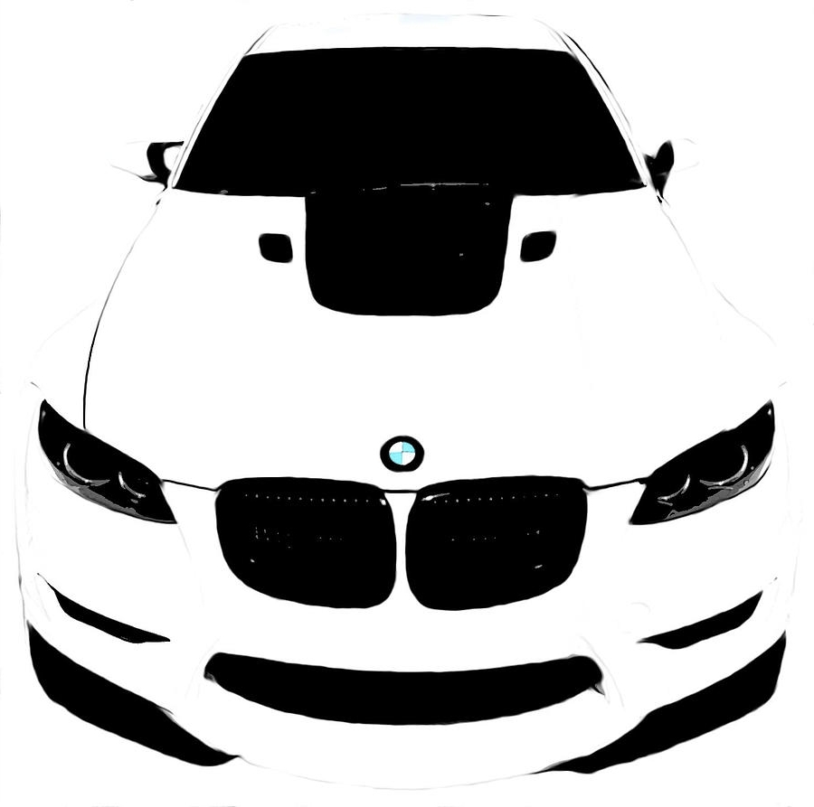 White Digital Artj Anthony With 2018 Bmw Canvas Wall Art (View 10 of 15)