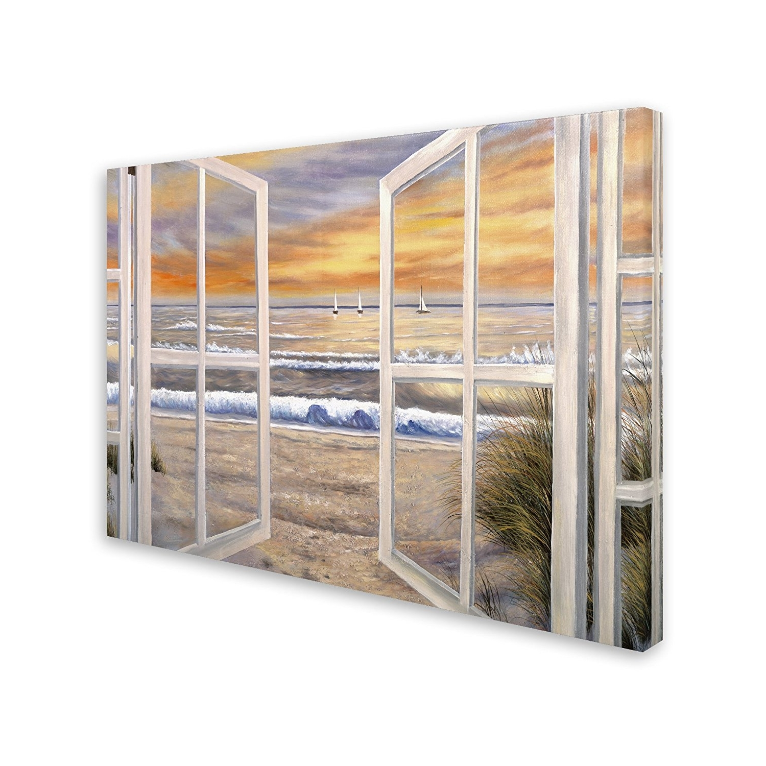 Widely Used Amazon: Elongated Windowjoval, 35x47 Inch Canvas Wall Art With Joval Canvas Wall Art (View 8 of 15)