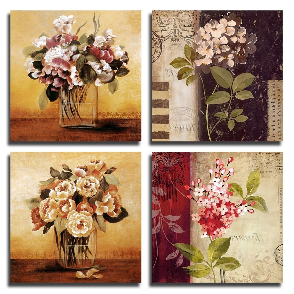 Widely Used Amazon: Gardenia Art 12 Inch By 12 Inch Retro Flowers Framed Inside Flowers Framed Art Prints (View 15 of 15)