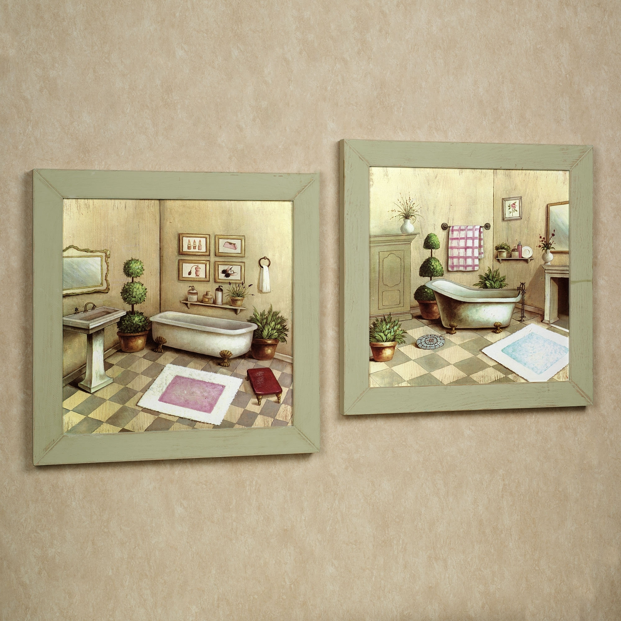 Widely Used Bathroom : Bath Wall Accents Touch Of Class And With Bathroom 30 Within Wall Art Accents (View 14 of 15)