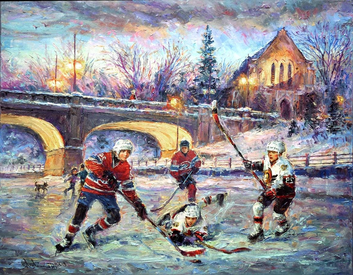 Widely Used Hard Ice – Ottawa Senators Hockey & Montreal Canadians – Art Pertaining To Ottawa Canvas Wall Art (View 14 of 15)
