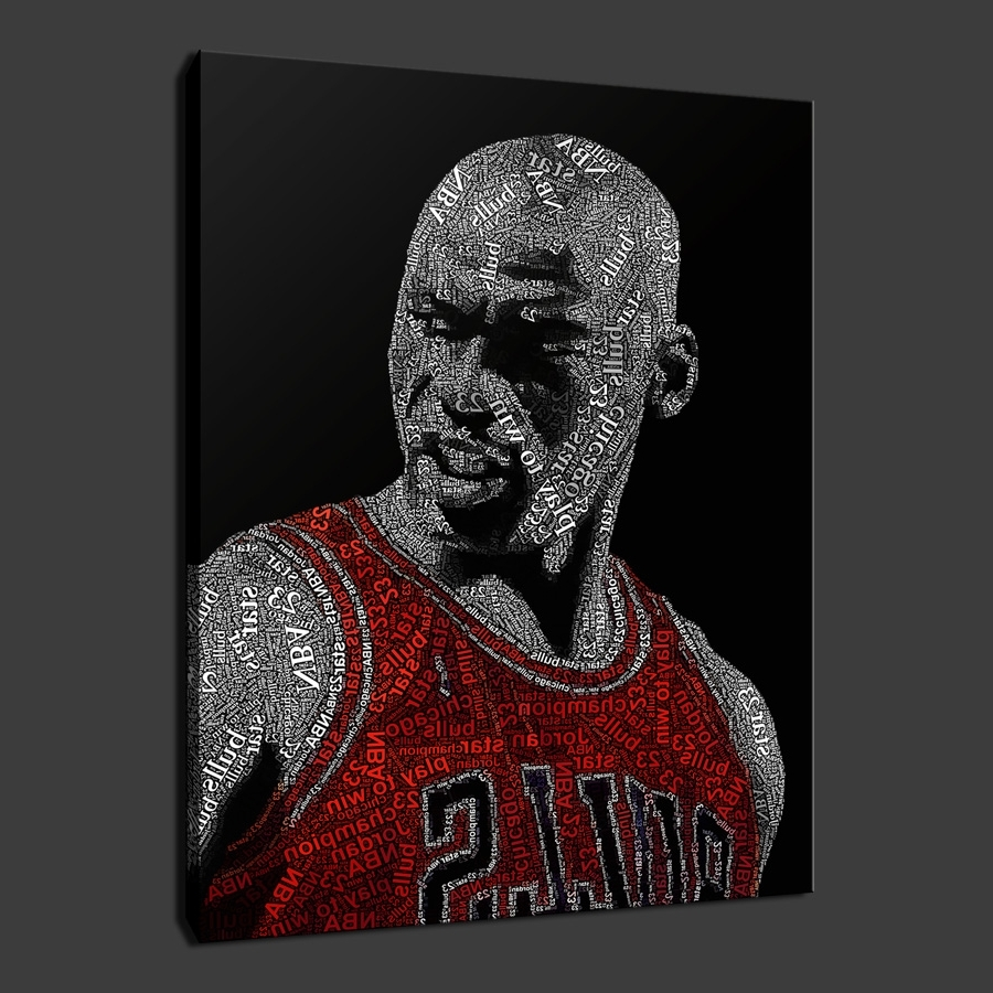 Widely Used Michael Jordan Canvas Wall Art Regarding Quality Canvas Print Art (Gallery 2 of 15)
