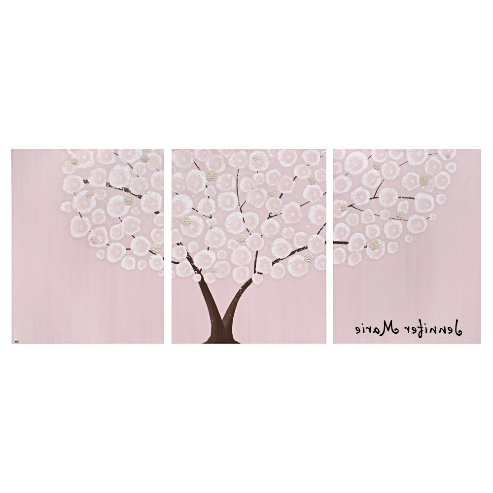 Widely Used Personalized Nursery Canvas Wall Art Inside Personalized Nursery Painting – Textured Tree On Large Canvas (View 14 of 15)