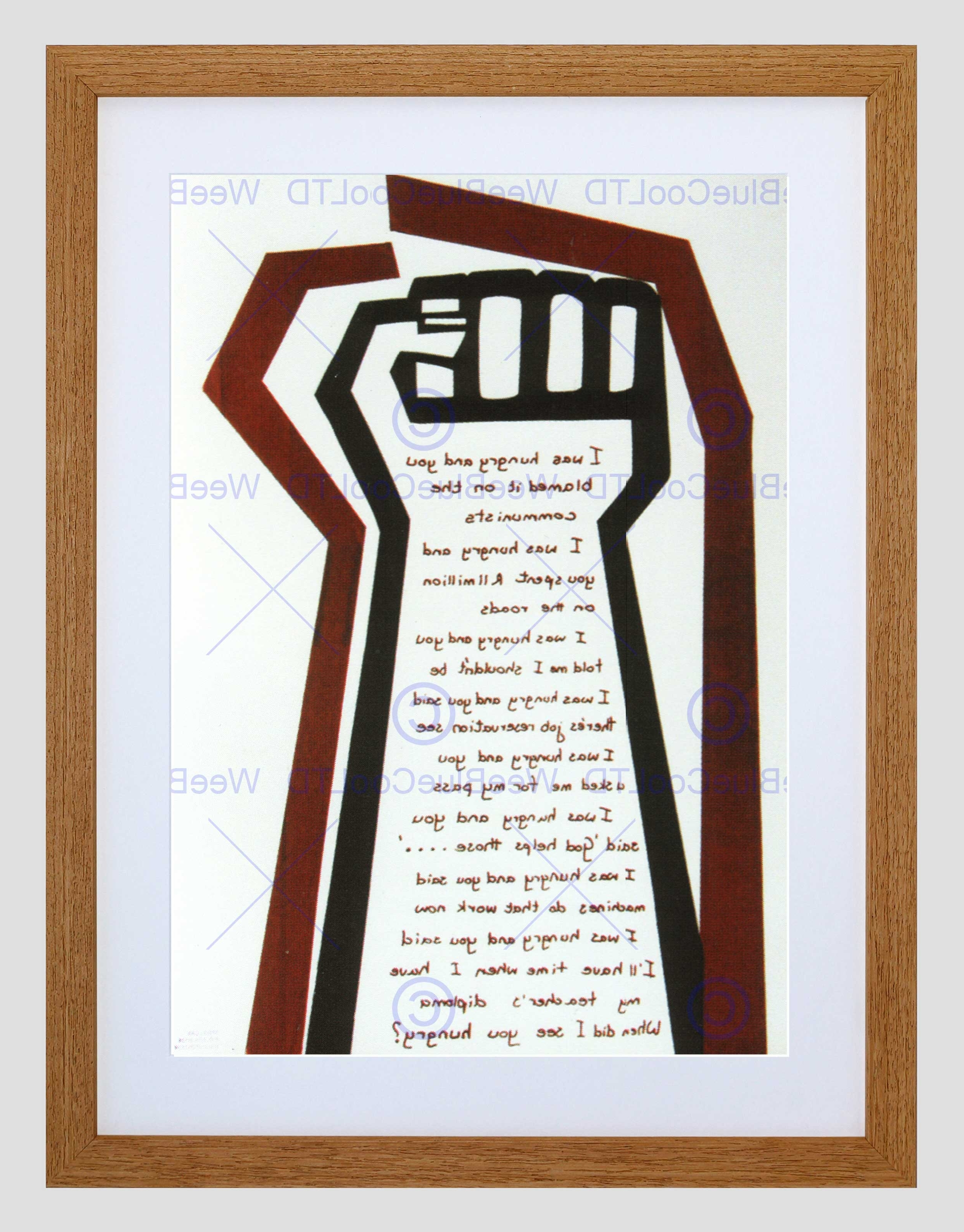 Widely Used Political Hunger South Africa Apartheid Black Framed Art Print For South Africa Framed Art Prints (View 2 of 15)