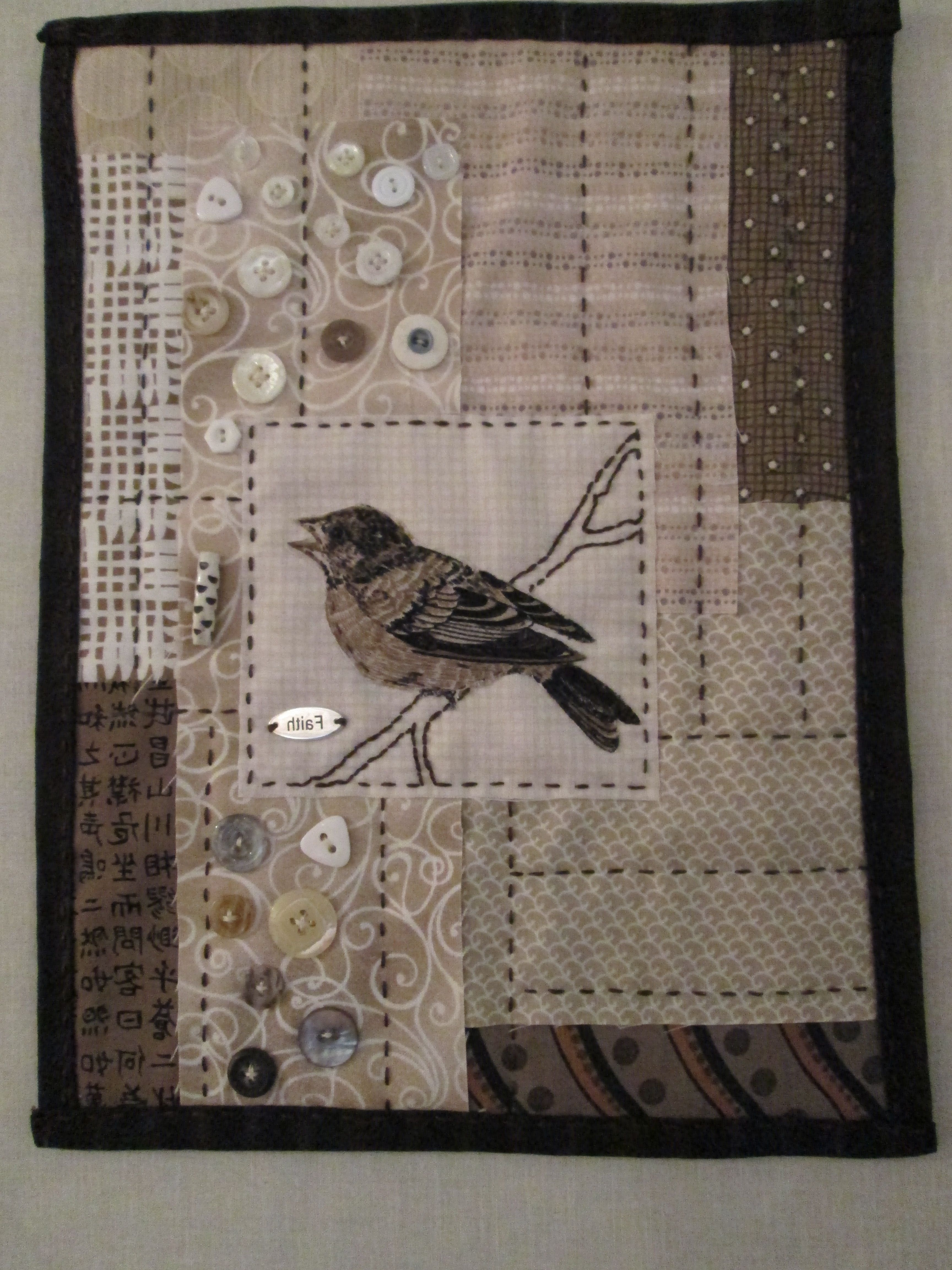 Widely Used Rmm Quilt: Bird Wall Hanging, Simply Made Using Mixed Techniques For Quilt Fabric Wall Art (View 12 of 15)