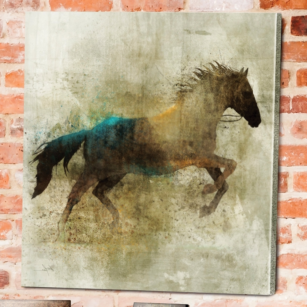 Widely Used Shadow Rider Horse Canvas Wall Art (View 2 of 15)