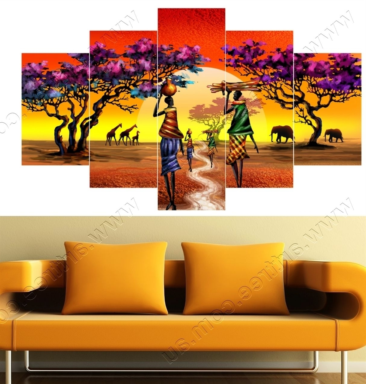 Widely Used Tribal African Jungle Safari Canvas Print #tribalprint #africanart Intended For Geelong Canvas Wall Art (View 15 of 15)