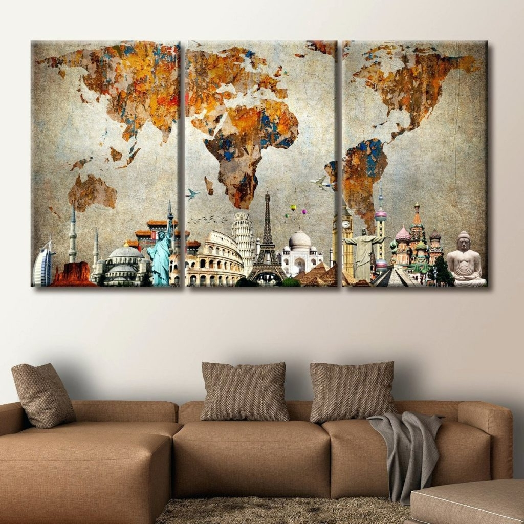 Explore gallery of canvas wall art at hobby lobby showing 15 of 15 widely used wall arts wall art world market hobby lobby us map canvas map with gumiabroncs Images