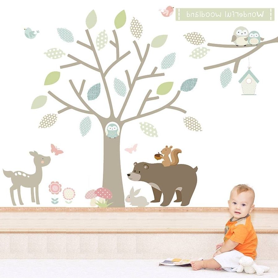 Widely Used Woodland Animal Wall Stickers In Fabric Animal Silhouette Wall Art (View 6 of 15)