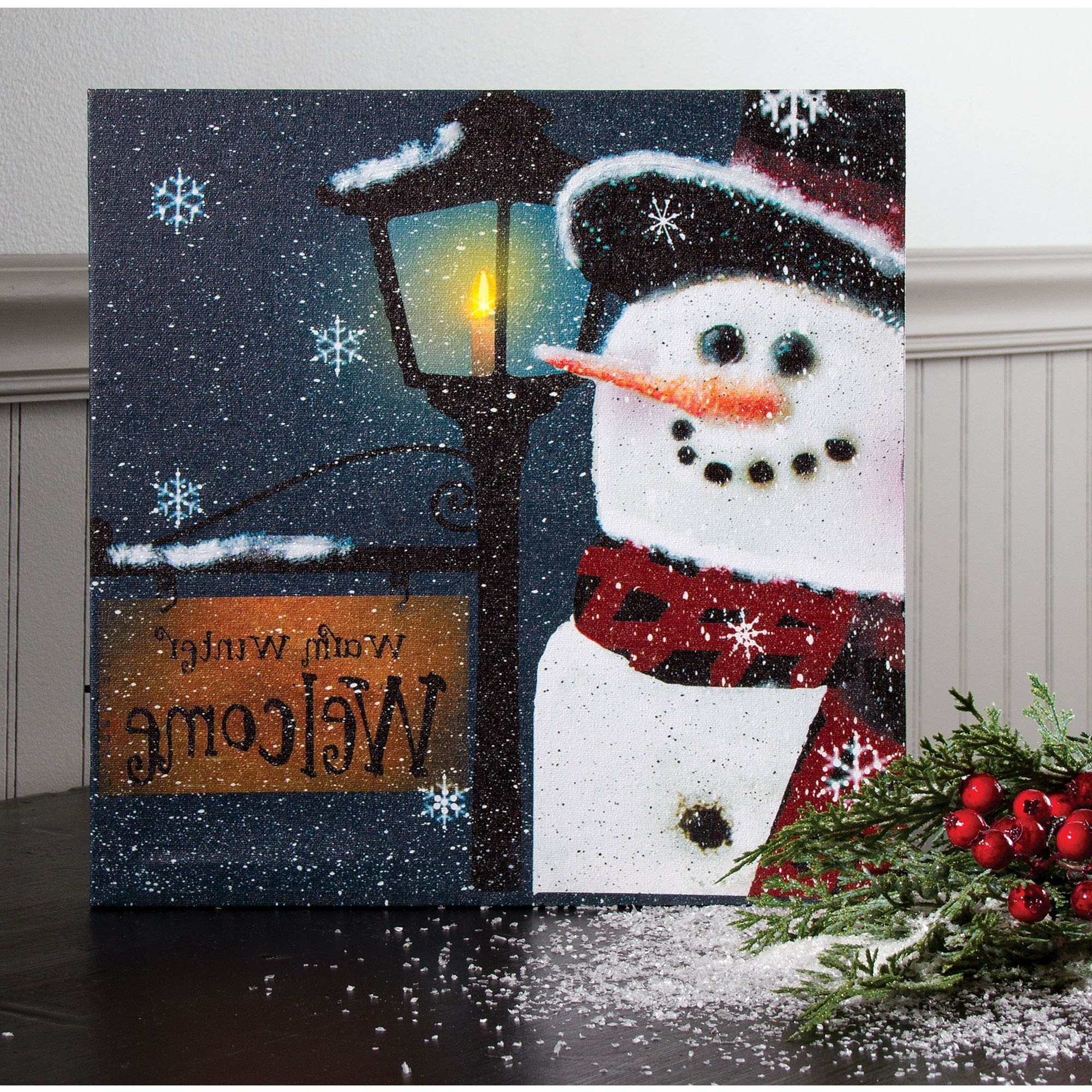 Winter Lighted Wall Art With Newest Lighted Canvas Wall Art (View 15 of 15)