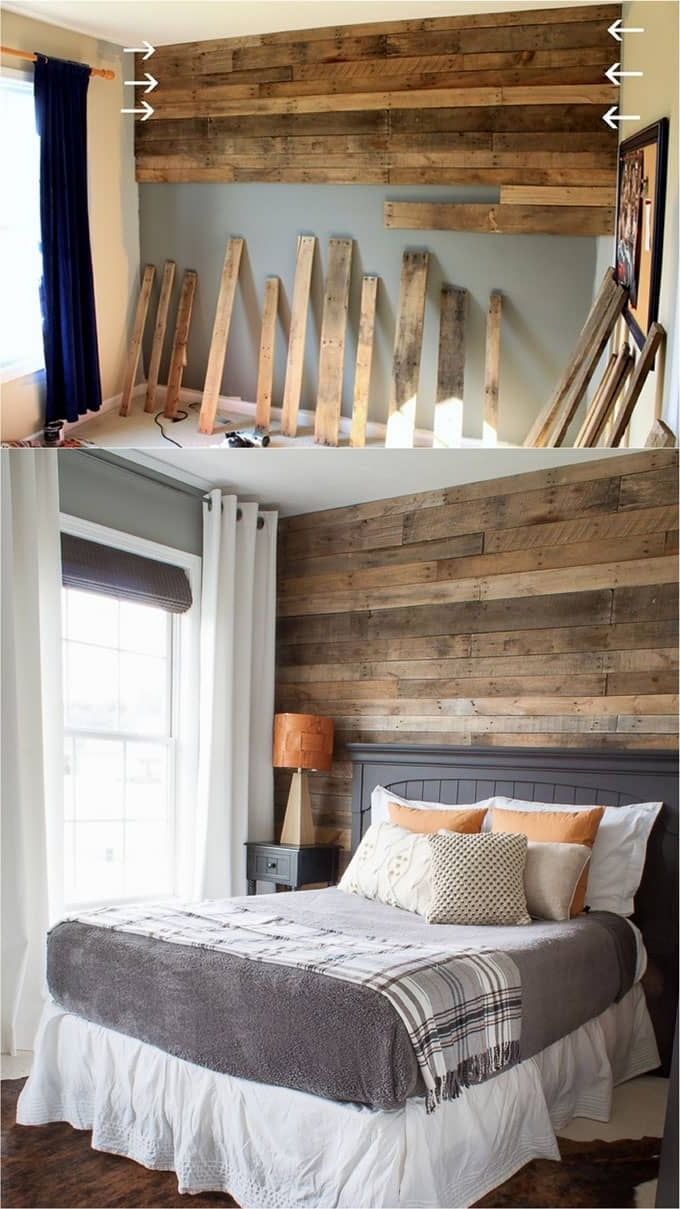 Wood Pallets Wall Accents Regarding Well Liked Pallet Wall And Shiplap Wall 30 Beautiful Diy Wood Wall Ideas (View 15 of 15)