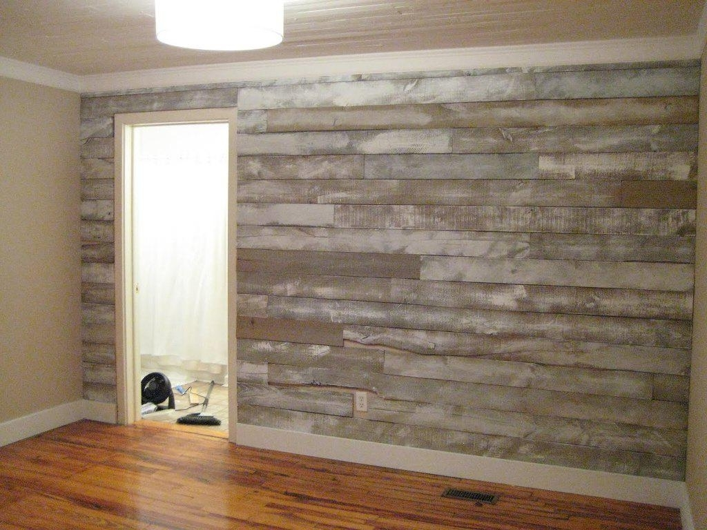 Wood Paneling Wall Accents Within Fashionable Faux Barn Wood Paneling For Walls (View 13 of 15)
