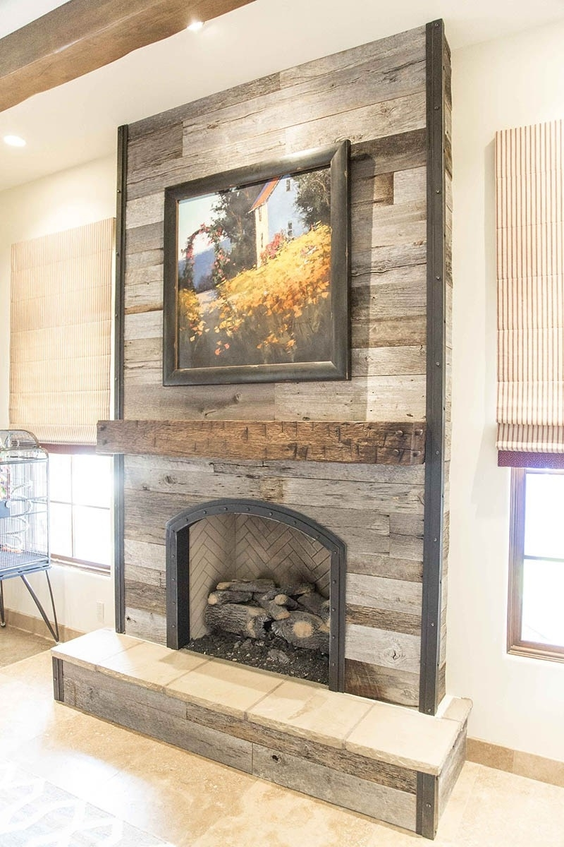 Wood Wall Fireplace – Trgn #cfd035Bf2521 Throughout Most Up To Date Fireplace Wall Accents (View 8 of 15)