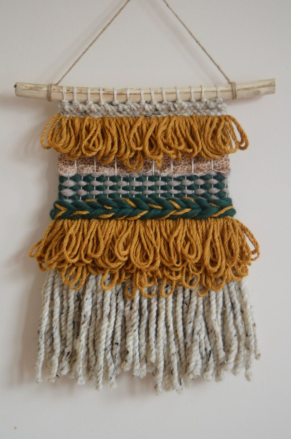 Woven Wall Hanging, Textile Wall Art, Mustard Wall Hanging, Woven With Well Liked Hanging Textile Wall Art (View 15 of 15)
