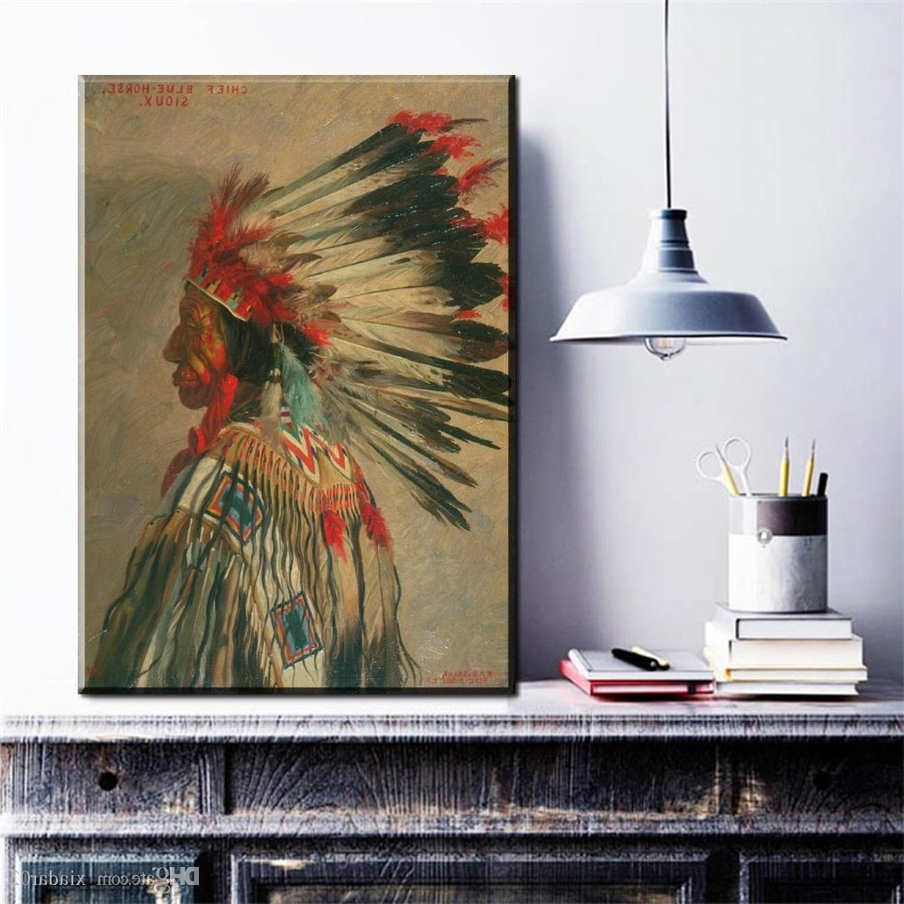 Zz1225 Modern Canvas Wall Art Indian Portrait Canvas Pictures Oil Regarding Well Known Portrait Canvas Wall Art (View 6 of 15)