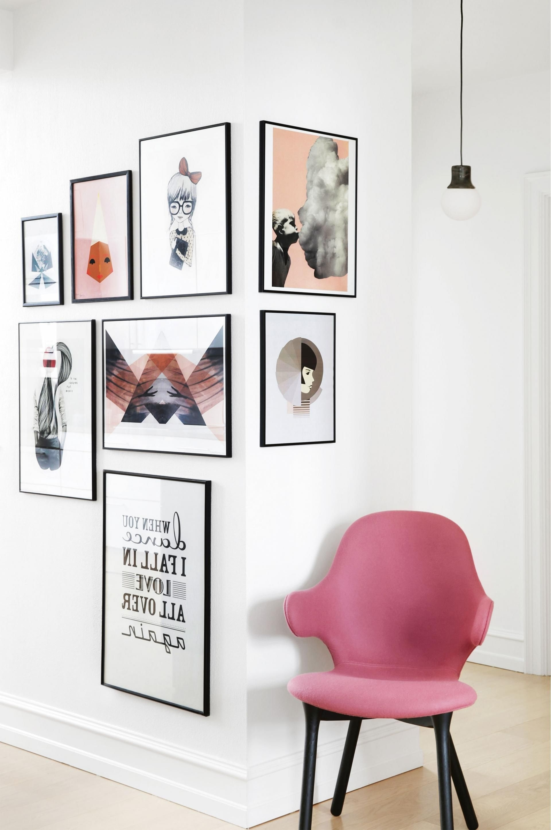 17 Unique Wall Art Display Ideas That Aren't Another Gallery Wall Pertaining To Trendy Corner Wall Art (View 1 of 20)