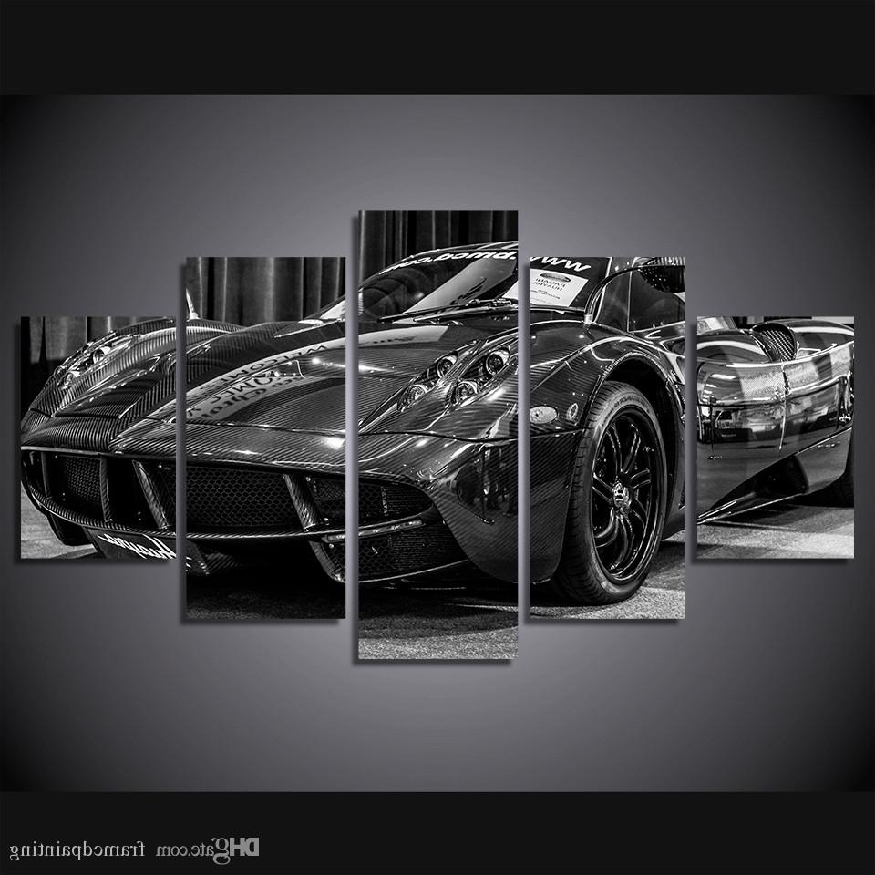 2017 Car Canvas Wall Art For Online Cheap Framed Hd Printed Black Luxury Sports Car Picture Wall (View 2 of 20)