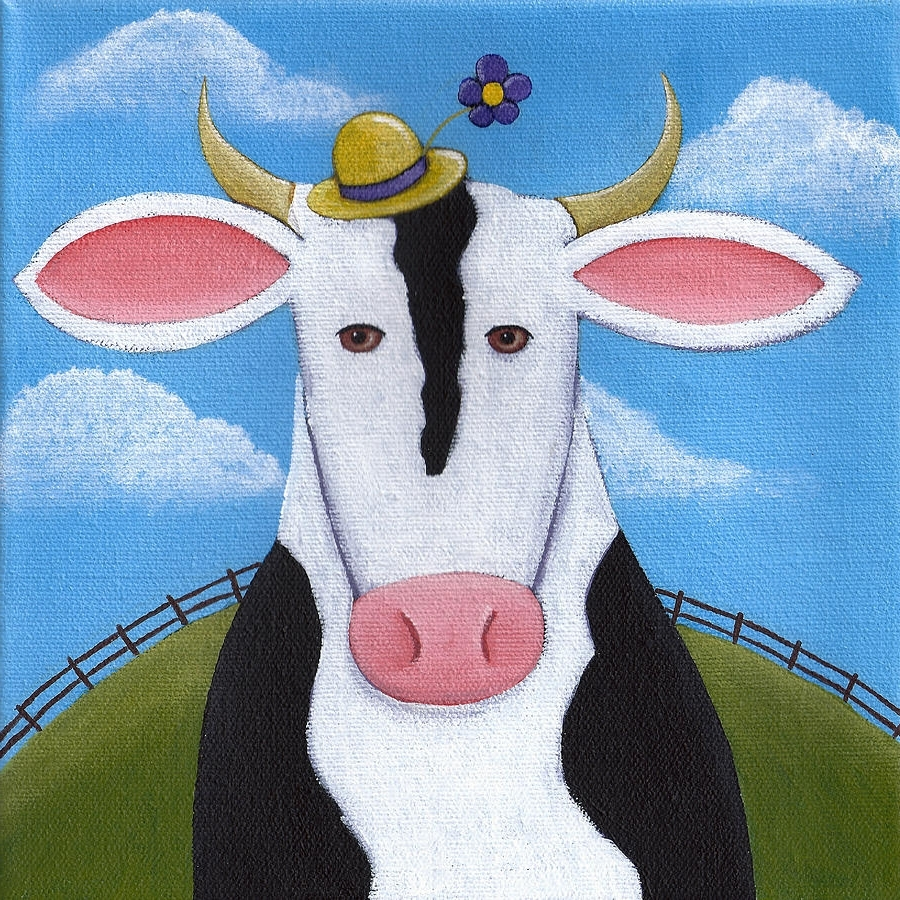 2017 Cow Canvas Wall Art With Regard To Cow Nursery Wall Art Paintingchristy Beckwith (View 3 of 20)