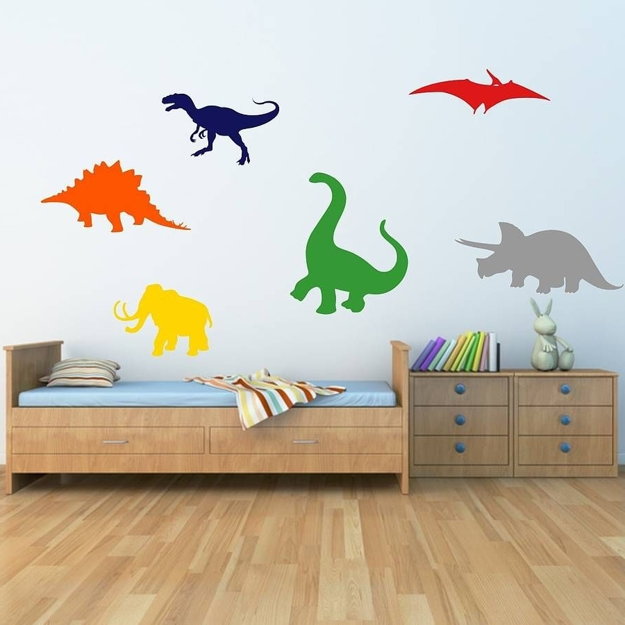 2017 Dinosaurs Kids Wall Stickers (View 2 of 20)