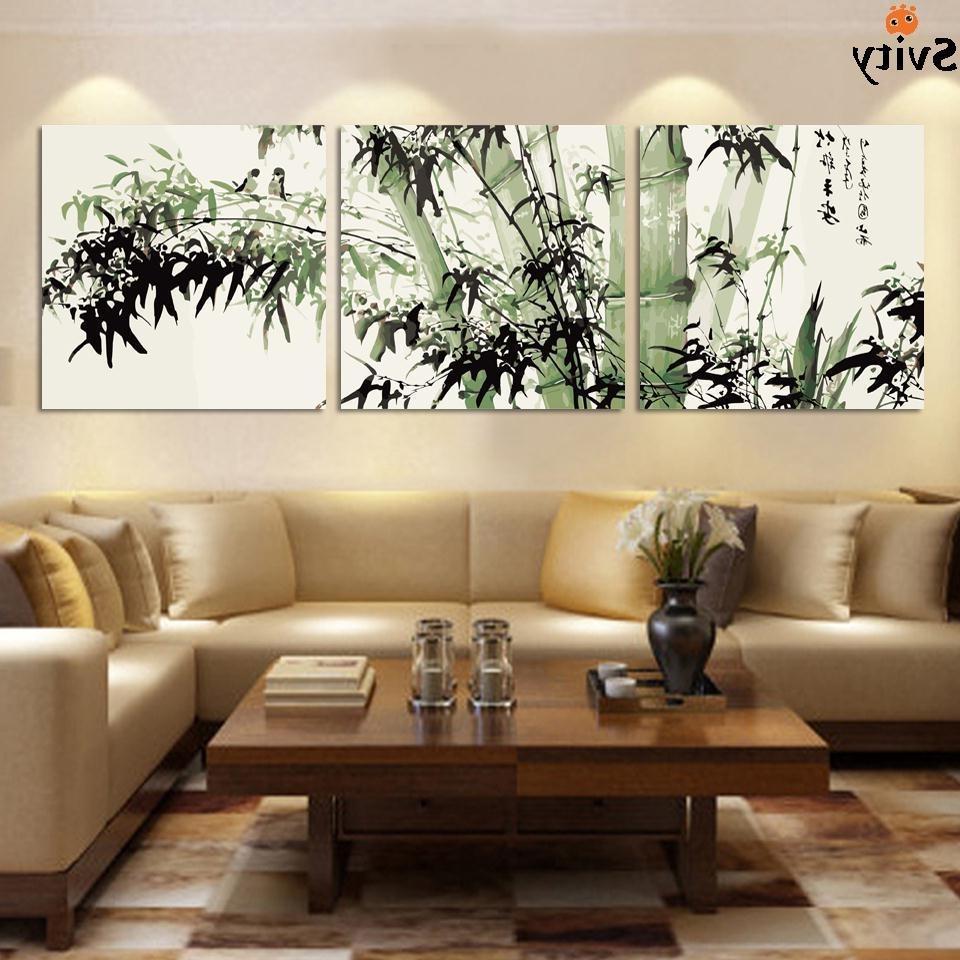 2017 Fashion Large Canvas Art Cheap Modern Abstract Bamboo Canvas Wall Regarding Cheap Large Wall Art (Gallery 6 of 20)