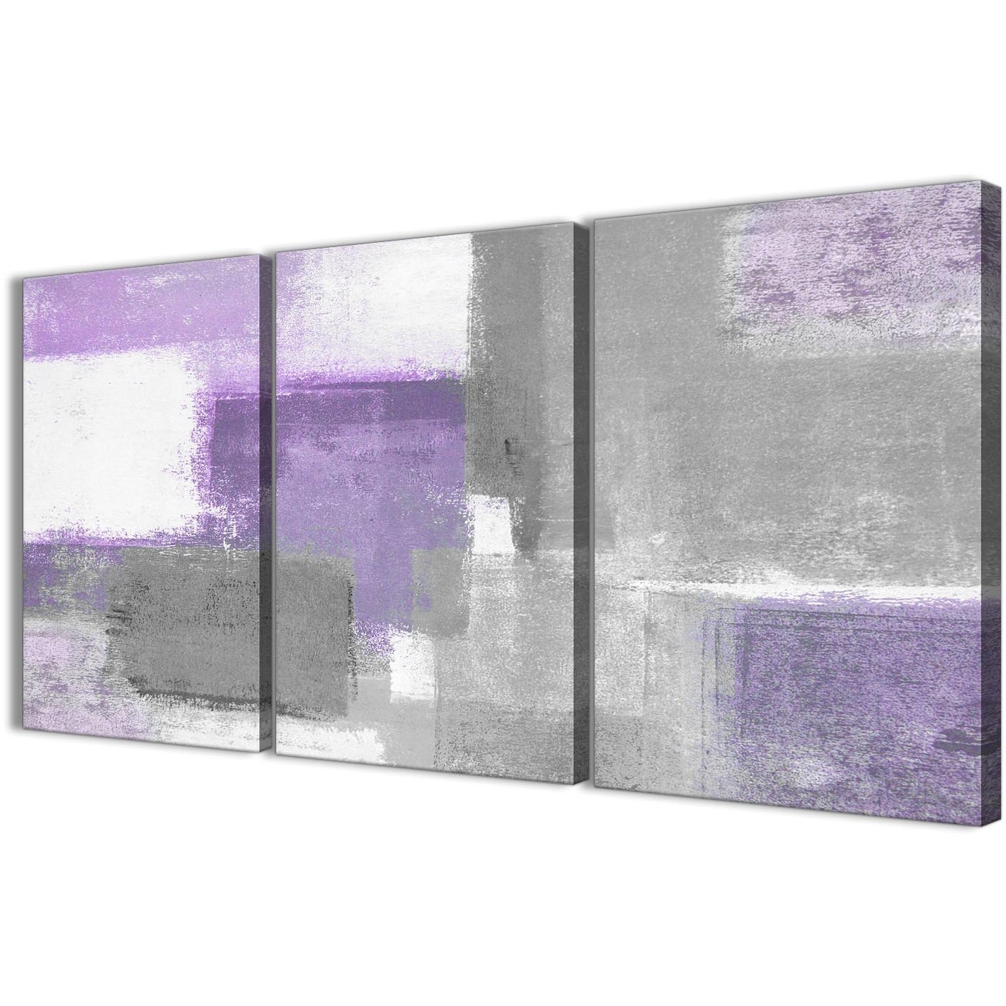 2017 Gray Canvas Wall Art For 3 Piece Purple Grey Painting Kitchen Canvas Pictures Decor (View 1 of 20)