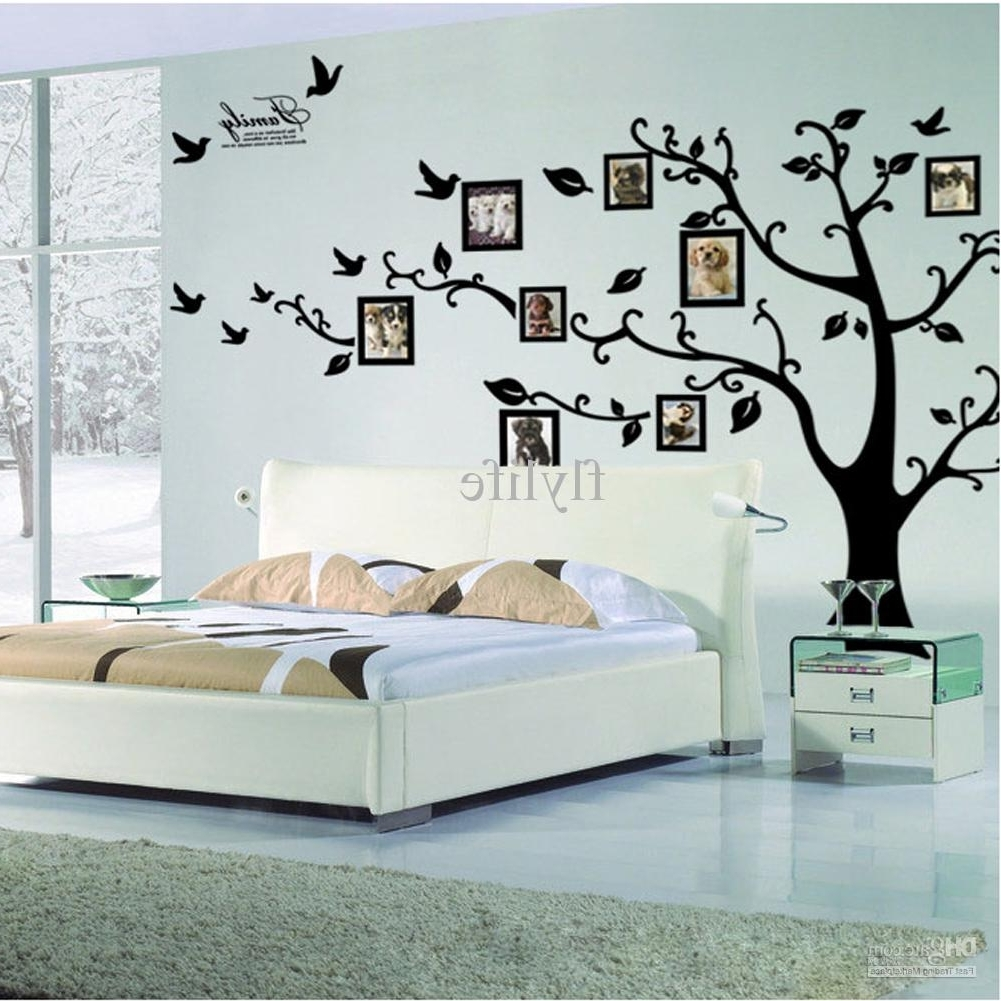 2017 Home Decor Wall Art Pertaining To Large Size Black Family Photo Frames Tree Wall Stickers, Diy Home (Gallery 3 of 20)