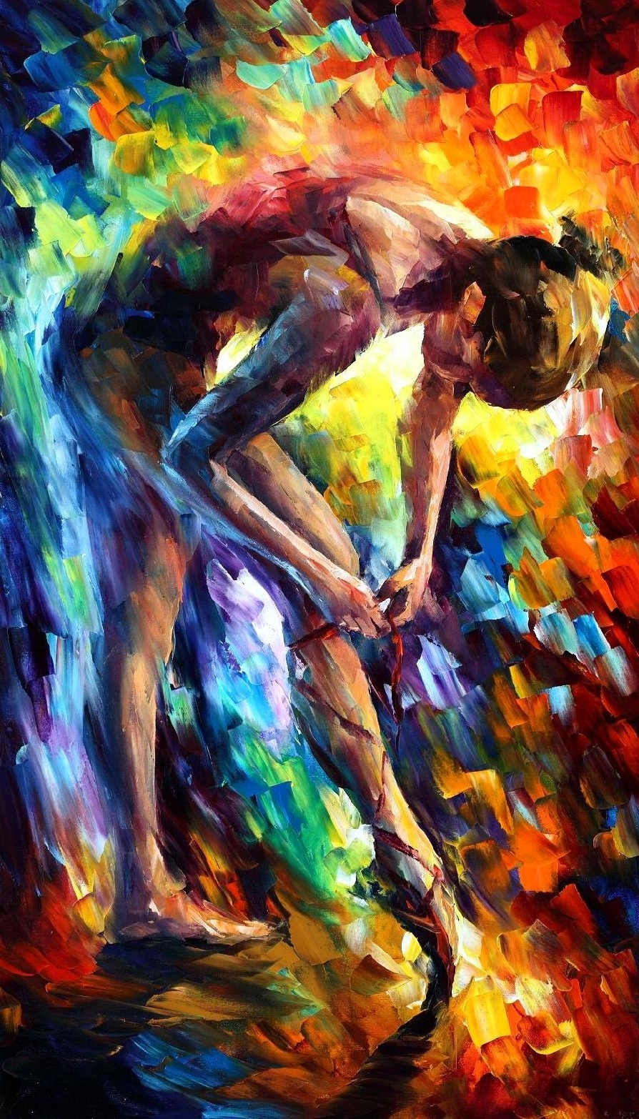 2017 Large Canvas Painting Wall Art Throughout Ballerina 3 — Palette Knife Oil Painting On Canvasleonid Afremov – (View 3 of 20)