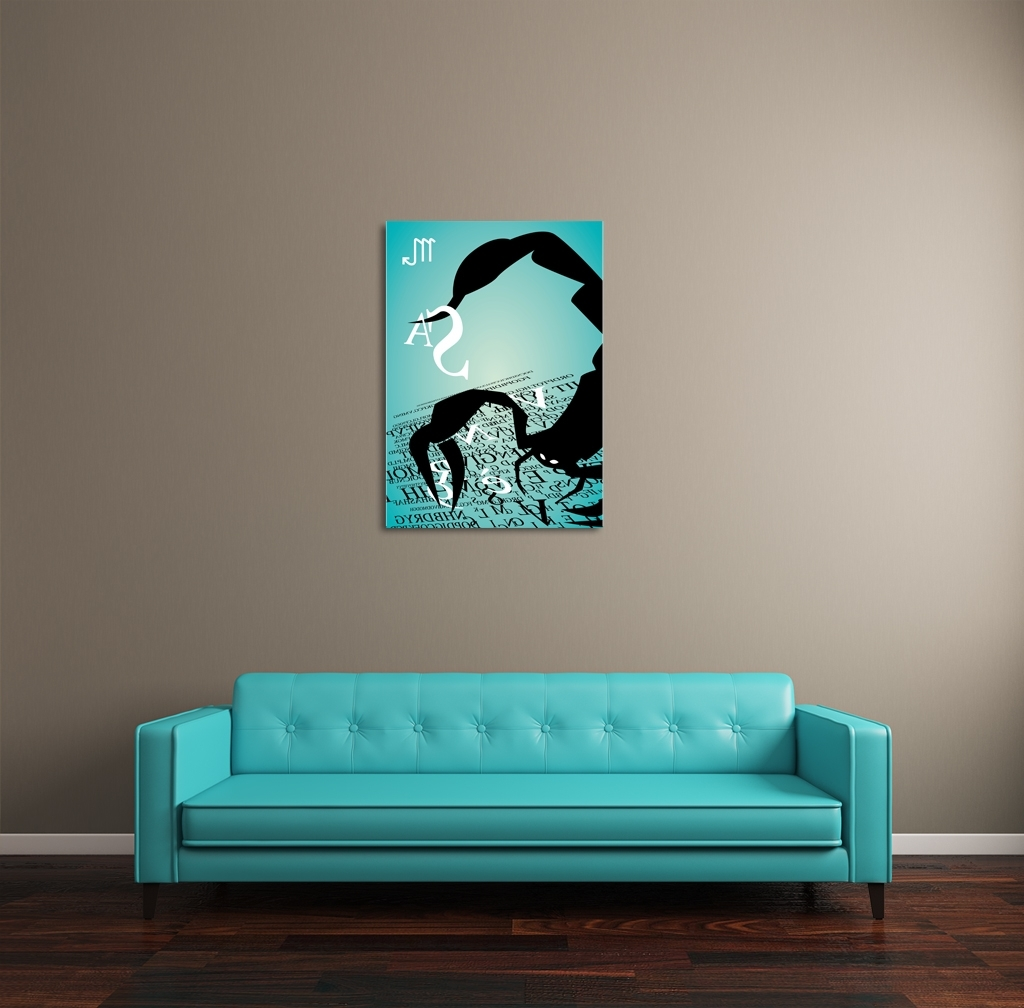 2017 Long Canvas Wall Art Regarding Zodiac Sign Scorpio Canvas Wall Art (View 16 of 20)