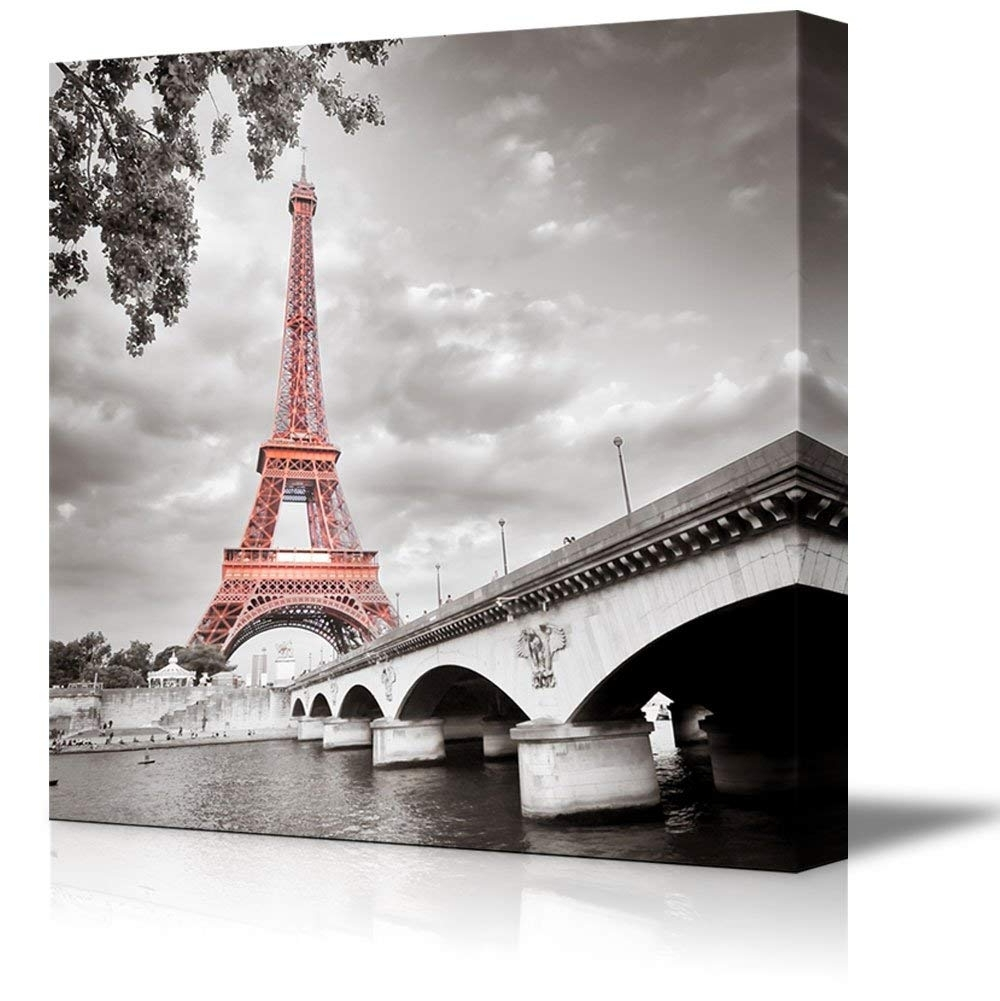 2017 Paris Wall Art Throughout Canvas Prints Wall Art – Eiffel Tower In Paris, France (Gallery 6 of 15)