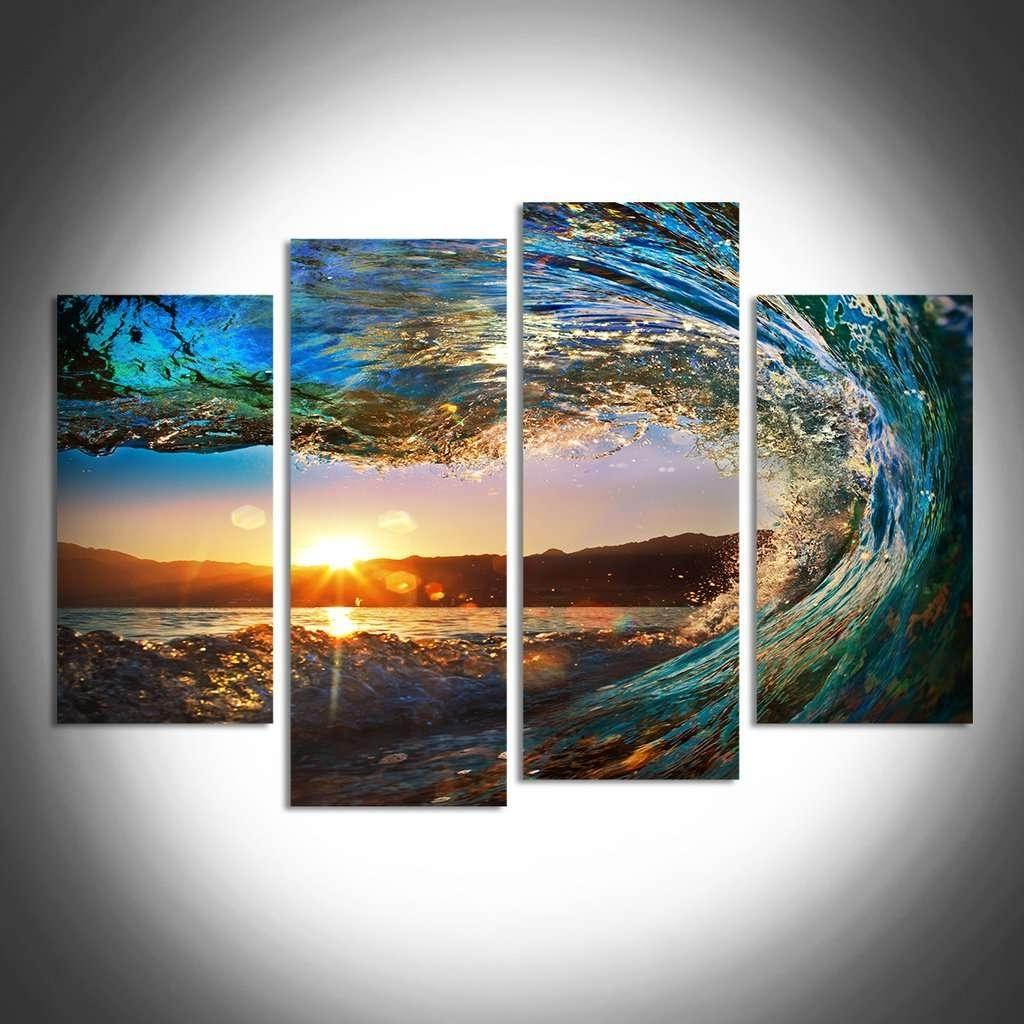 2017 Sunrise & Sunset Wall Art Multi Panel Canvas (View 2 of 15)