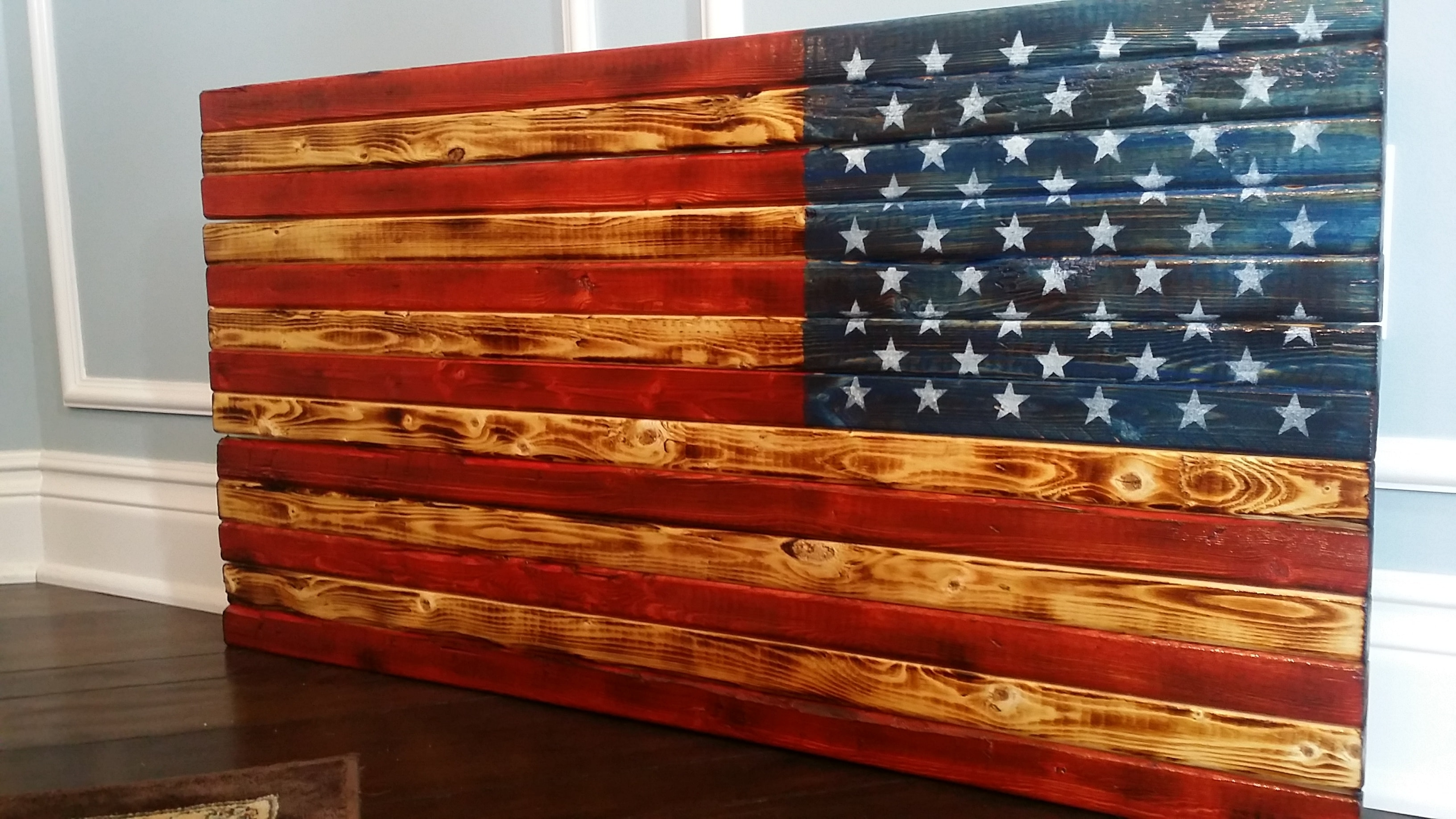 2017 Wooden American Flag Wall Art With Handmade In Usa, Vintage, Rustic And Distressed Wooden U.s. American (Gallery 3 of 20)