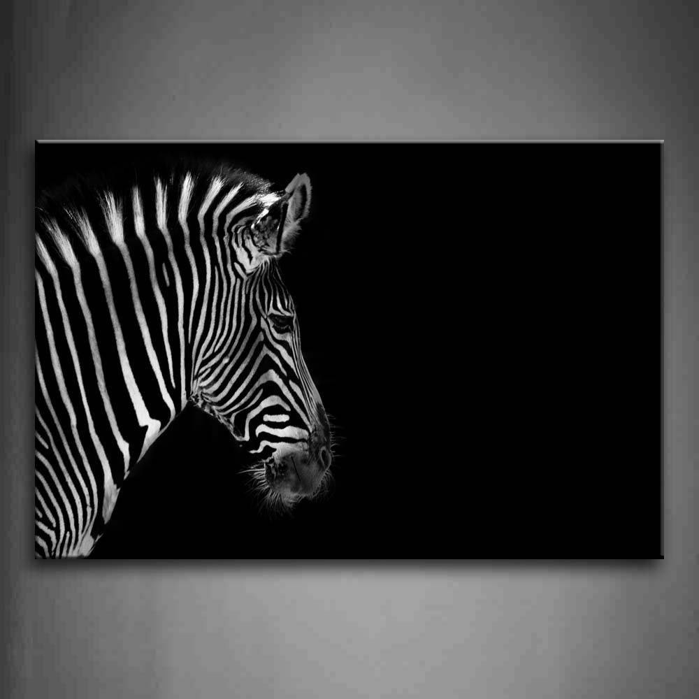 2017 Zebra Canvas Wall Art For Wall Art Painting Pictures Black And White Portrait Of Zebra Head (View 1 of 20)