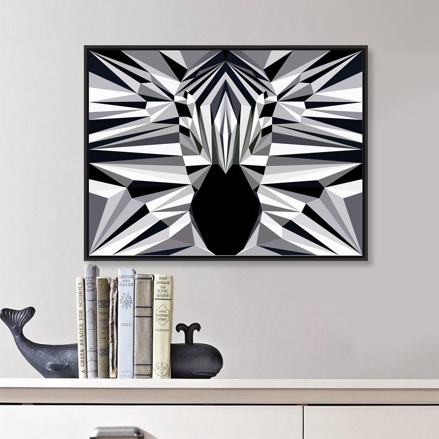 2017 Zebra Canvas Wall Art Intended For Animal Elephant Butt Canvas Print Modern Decor Wall Picture Zebra (View 2 of 20)